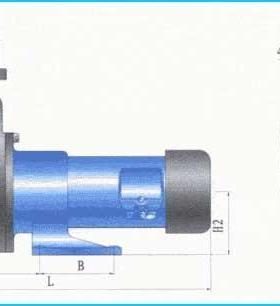 ZCQF型氟塑料自吸磁力泵(安装尺寸)