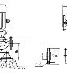 ISG系列立式管道离心泵(安装尺寸)