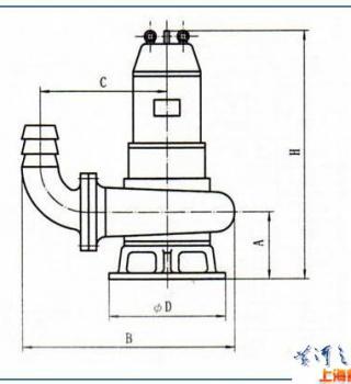 QW潜水式无堵塞排污泵(安装尺寸)