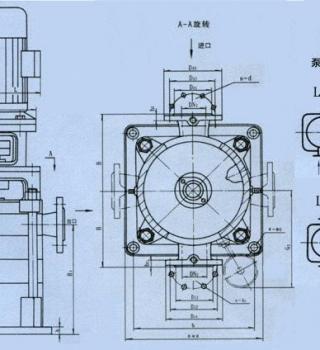 LG型高层建筑多级给水泵(安装尺寸)
