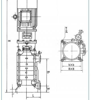 DL系列立式多级离心泵(安装尺寸)