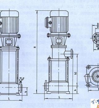 GDL型立式多级管道离心泵(安装尺寸)
