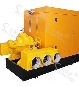 真空辅助自吸防汛柴油机水泵