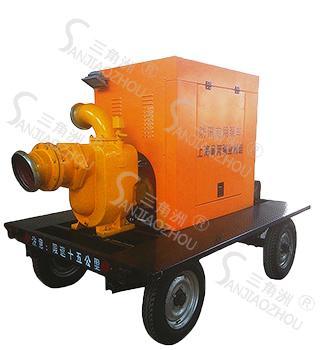 四轮移动式柴油机自吸泵-市政防汛抢险排水移动泵站